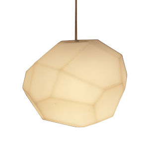 Asteroid Matt White One-Light Pendant