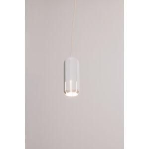Brixton White LED One-Light Mini-Pendant, with 2700K