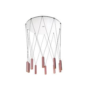 Brixton Copper LED 10-Light Pendant