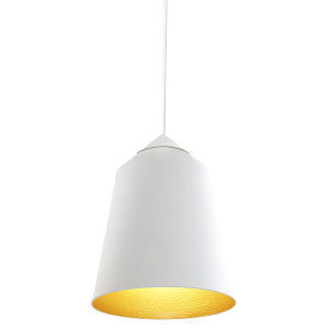 Circus White 6-Inch One-Light Mini-Pendant with 60W