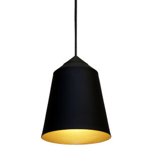 Circus Black 6-Inch One-Light Mini-Pendant with 60W