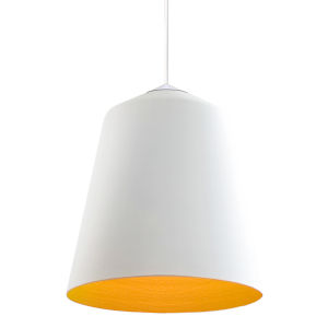 Circus White 14-Inch One-Light Pendant with 100W