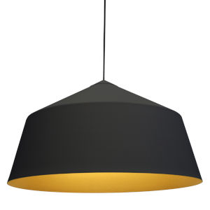 Circus Black 22-Inch One-Light Pendant with 100W