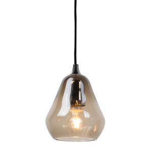 Smoked Glass 6-Inch One-Light Mini-Pendant with 60W