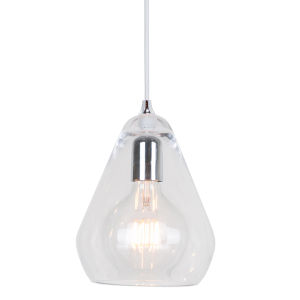 Transparent Glass 8-Inch One-Light Mini-Pendant with 60W