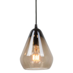 Smoked Glass 8-Inch One-Light Mini-Pendant with 60W