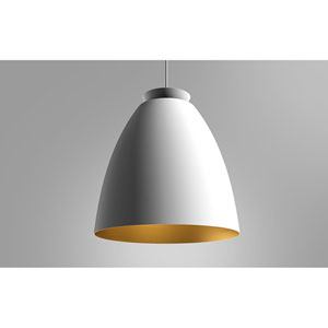 Chelsea White and Gold One-Light Mini Pendant