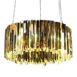Facet Polished Brass 12-Light Pendant