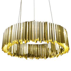Facet Polished Brass 24-Light Pendant