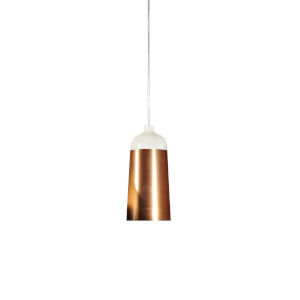 Glaze White and Copper 6-Inch One-Light Mini-Pendant 8W