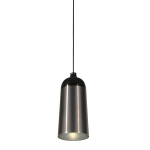Glaze Black and Charcoal 6-Inch One-Light Mini-Pendant 8W