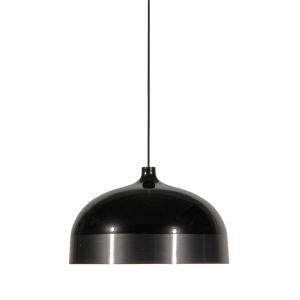 Glaze Black and Charcoal 13-Inch One-Light Pendant
