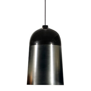 Glaze Black and Charcoal 13-Inch One-Light Pendant with 15W