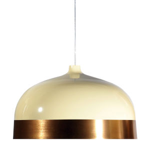 Glaze Cream and Copper 20-Inch One-Light Pendant with 15W