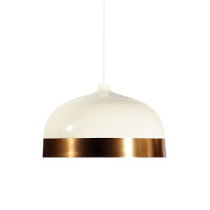Glaze White and Copper 20-Inch One-Light Pendant with 15W