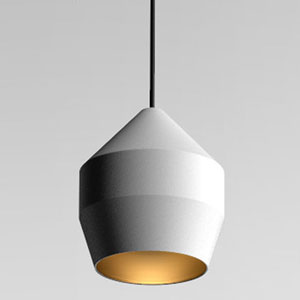 Hoxton White and Gold One-Light Mini Pendant