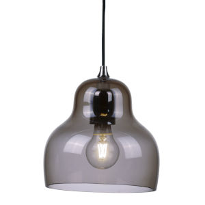 Jelly Grey Nine-Inch One-Light Mini Pendant with 60W