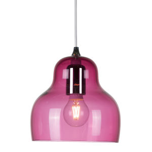 Jelly Red Nine-Inch One-Light Mini Pendant with 60W