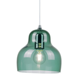 Jelly Blue Nine-Inch One-Light Mini Pendant with 60W