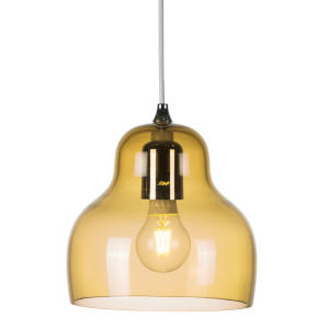 Jelly Yellow Nine-Inch One-Light Mini Pendant with 60W