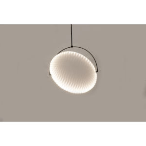 Kepler Black and Off White 41-Inch LED One-Light Pendant with 15W