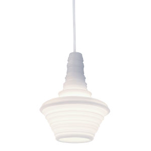 Stupa White 7-Inch One-Light Mini-Pendant with 100W