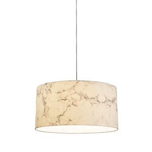 White Marble 13-Inch LED One-Light Pendant
