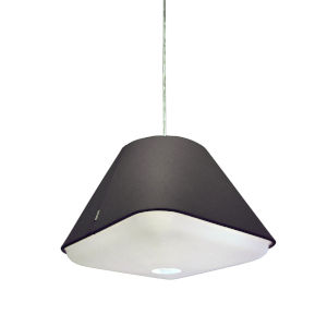 Rd2Sq Dark Grey LED One-Light Pendant with 3000K