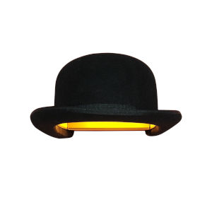 Jeeves and Wooster Black Felt and Gold Interior One-Light Wall Sconce