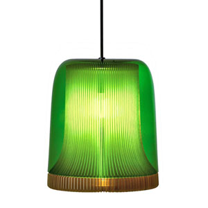 Dub Green and Pale Gold 11-Inch One-Light Pendant