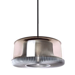 Dub Gray One-Light Pendant with Smoke Glass