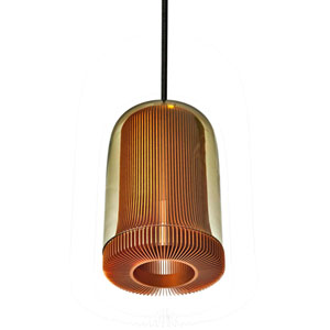 Dub Copper One-Light Mini Pendant with Smoke Glass