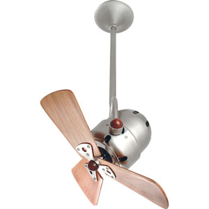 Bianca Brushed Nickel 16-Inch Ceiling Fan with Mahogany Blades