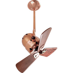Bianca Polished Copper 16-Inch Ceiling Fan with Mahogany Blades
