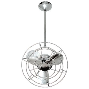 Bianca Directional Brushed Nickel 13-Inch Ceiling Fan with Metal Blades