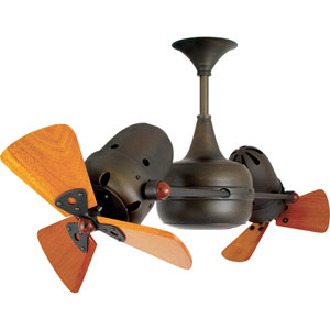 Duplo Dinamico Bronze 36-Inch Ceiling Fan with Mahogany Blades