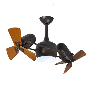 Dagny Textured Bronze 38-Inch Rotational Ceiling Fan with Light Kit