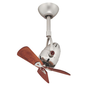 Atlas Fan Diane Brushed Nickel Ceiling Fan with Wood Blades