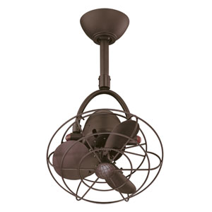 Atlas Fan Diane Textured Bronze Ceiling Fan with Metal Blades