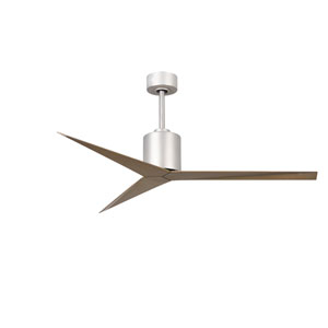 Eliza Brushed Nickel 56-Inch Paddle Ceiling Fan with Gray Ash Blades