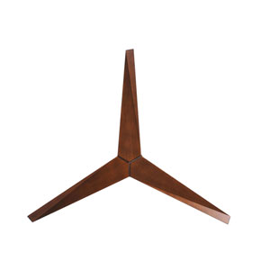 Eliza Brushed Nickel Hugger Ceiling Fan with Walnut Blades