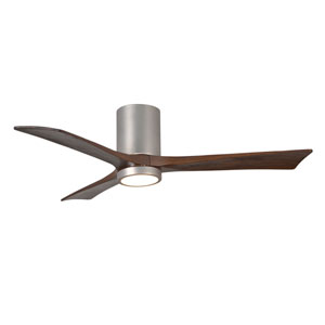 Irene-3HLK Brushed Nickel 52-Inch LED Ceiling Fan with Barnwood Tone Blades