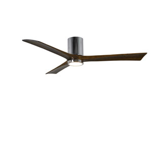 Irene-H Three Blade Polished Chrome 60-Inch LED One-Light Hugger-Style Ceiling Fan