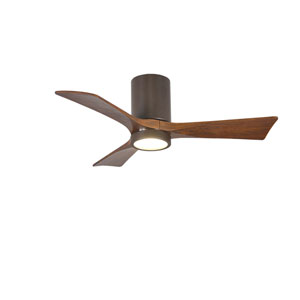 Irene-H Three Blade Textured Bronze 42-Inch LED One-Light Hugger-Style Ceiling Fan