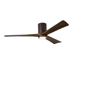 Irene-H Three Blade Textured Bronze 60-Inch LED One-Light Hugger-Style Ceiling Fan
