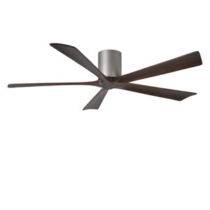 Irene-H Five Blade Brushed Nickel 60-Inch Hugger-Style Ceiling Fan