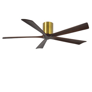 Irene-H Five Blade Brushed Brass 60-Inch Hugger-Style Ceiling Fan