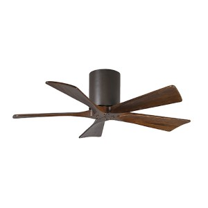 Irene-H 5 Textured Bronze 42-Inch Hugger-Style Ceiling Fan with Wood Blades