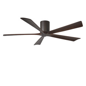 Irene-H Five Blade Textured Bronze 60-Inch Hugger-Style Ceiling Fan