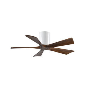 Irene-5H Gloss White 42-Inch Ceiling Fan with Barnwood Tone Blades